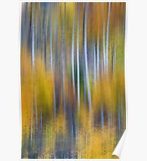 Surreal Colorful Aspen Tree Magic Abstract Poster