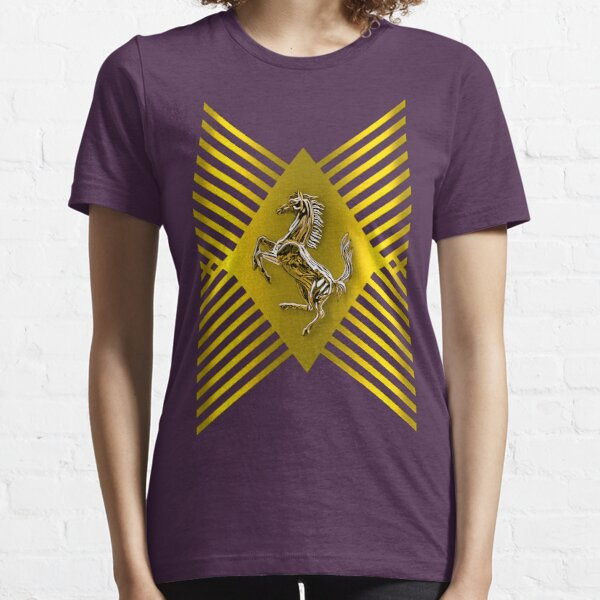 Golden Prancing Horse Essential T-Shirt