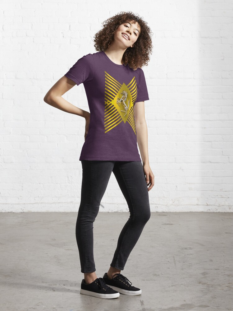 Alternate view of Golden Prancing Horse Essential T-Shirt