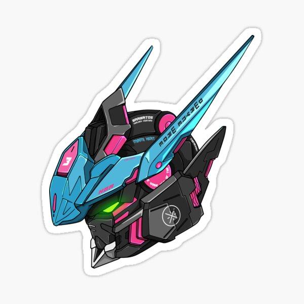 Gundam Barbatos ASW-G-08 Head (Wade Colors) Sticker