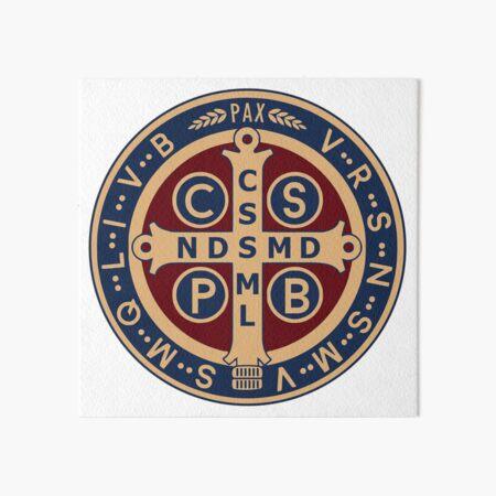 Saint Benedict Medal Art Board Print