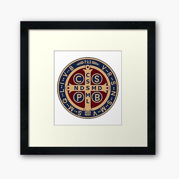 Saint Benedict Medal Framed Art Print