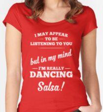 Dancing Salsa! Women's Fitted Scoop T-Shirt