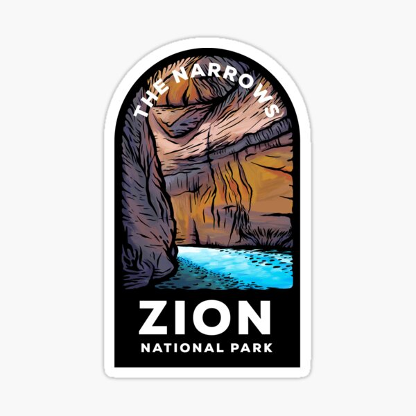 The Narrows Zion National Park Sticker