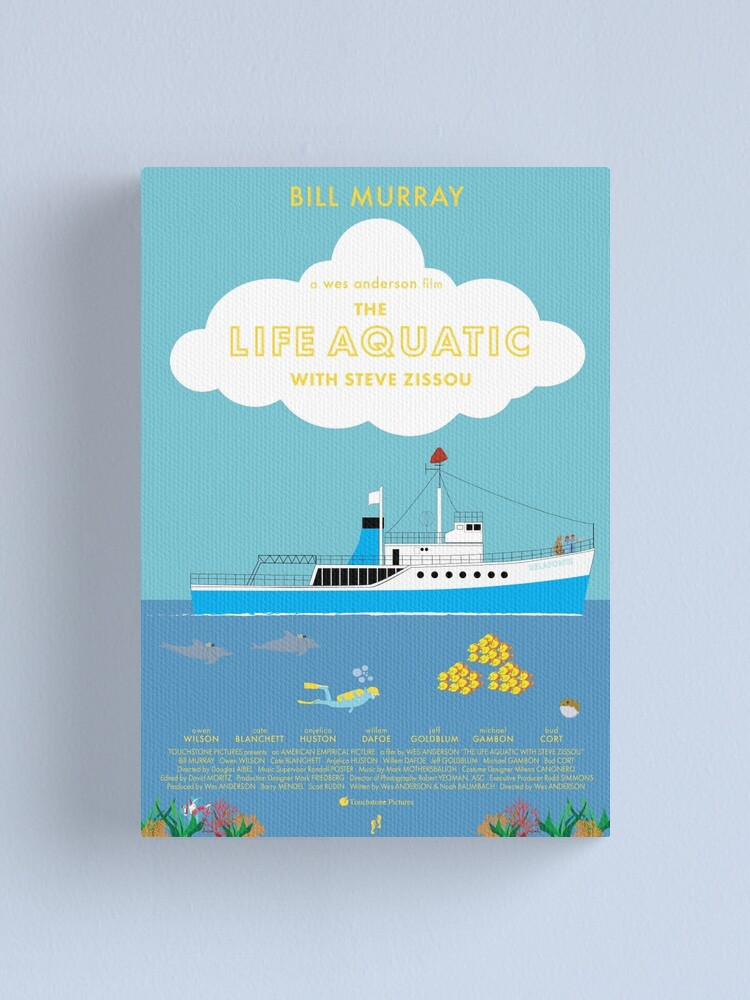 Alternate view of The Life Aquatic with Steve Zissou Poster Canvas Print