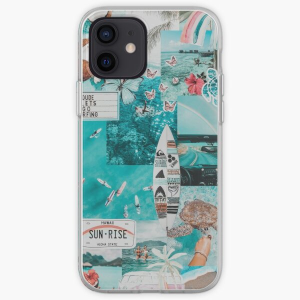 BLUE HAWAII VSCO COLLAGE iPhone Soft Case