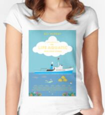 The Life Aquatic with Steve Zissou Poster Women's Fitted Scoop T-Shirt