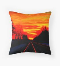Night Fire Series - November 13th For Darrel Throw Pillow