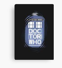 wibbly wobbly timey wimey TARDIS Canvas Print