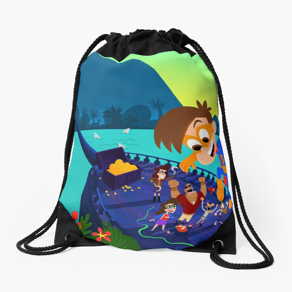Drew Pendous Pirate Adventure Cool School Drawstring Bag
