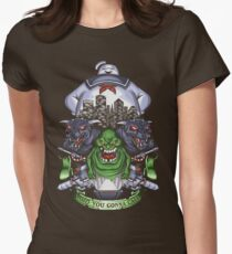 Who You Gonna Call? Womens Fitted T-Shirt