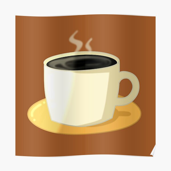 Black Coffee Sticker Poster