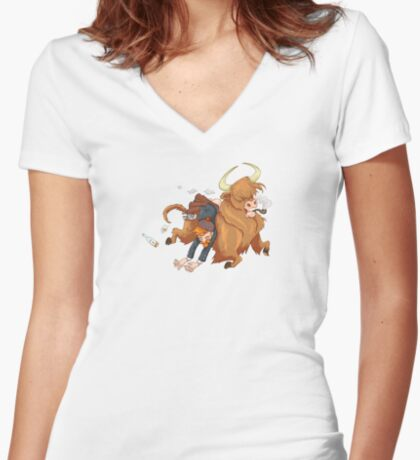 Whisky! Women's Fitted V-Neck T-Shirt