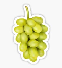 Green Grape cluster Sticker