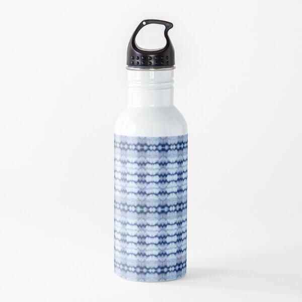 Shibori Style Indigo Blue Water Bottle