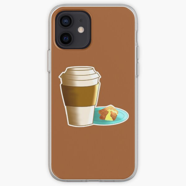 Coffee with Waffles Sticker iPhone Soft Case