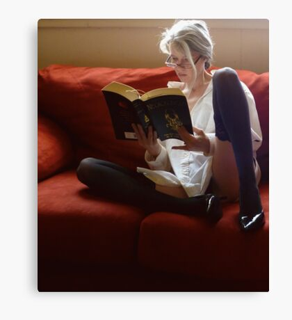Stone Cold Fox Says Reading Is Sexy  Canvas Print