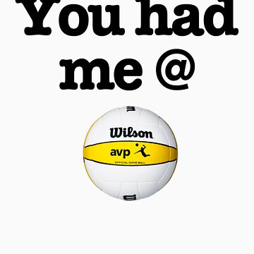 You Had Me @ Volleyball Black by wellingtonjg