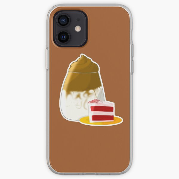 Dalgona Coffee with Cake Sticker iPhone Soft Case