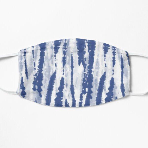 Blue Stripe Tie Dye Pattern  Flat Mask