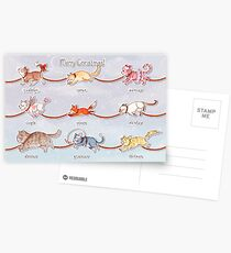 Santa's Little (Kitten) Helpers Postcards