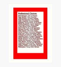 Pro Choice Art Print