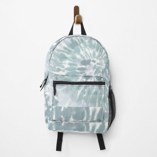 Pale Aqua Swirl Tie Dye Pattern  Backpack