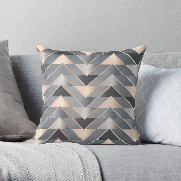 Modern Triangles Throw Pillow