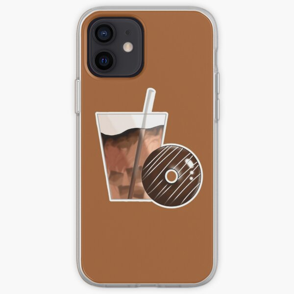 Iced Coffee with Donut Sticker iPhone Soft Case