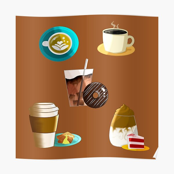 Coffee Sticker Pack Poster