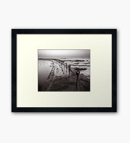 Newcastle Beach - B&W Framed Print