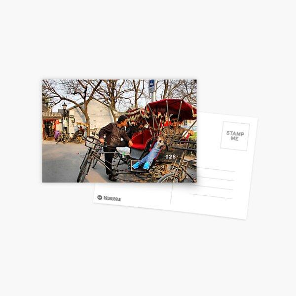 Rickshaws in Beijing city Postcard