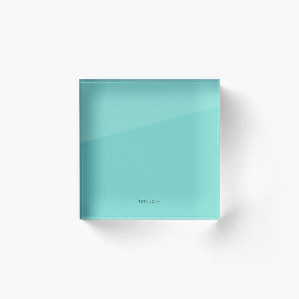 Tiffany Blue w/ Logo  Acrylic Block