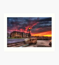 Ryde Esplanade Sunset Art Print