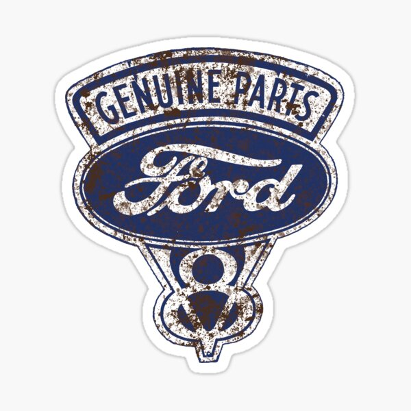 Oil Stained Ford Sign Sticker