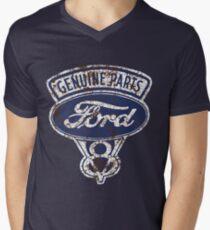 Oil Stained Ford Sign Men's V-Neck T-Shirt