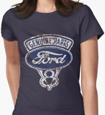 Oil Stained Ford Sign Women's Fitted T-Shirt