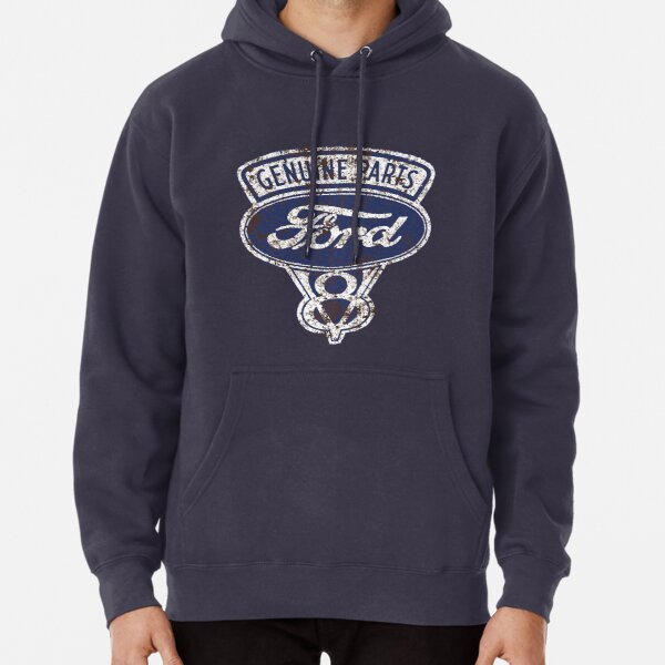 Oil Stained Ford Sign Pullover Hoodie