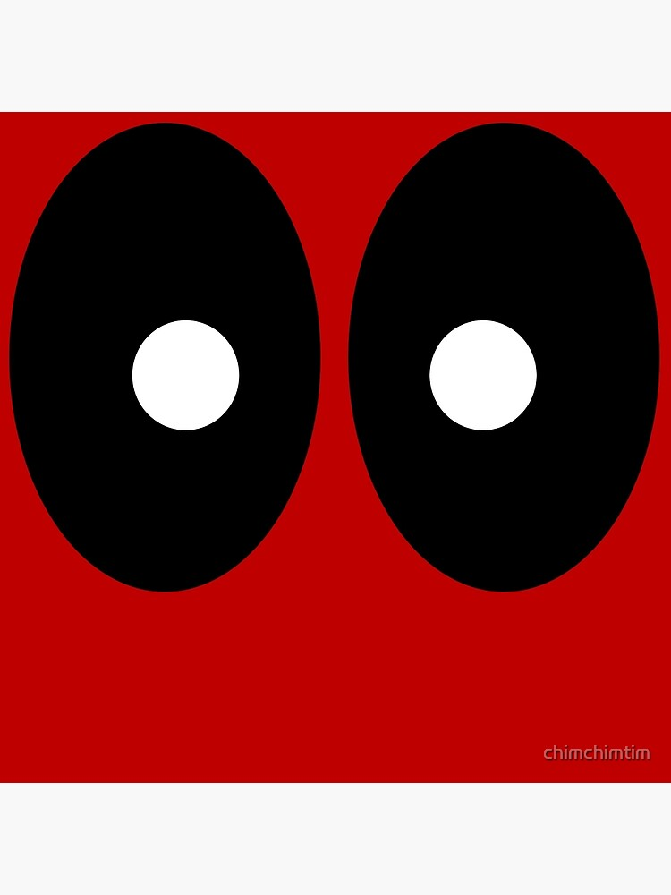 Red field behind black ellipses and white circles. by chimchimtim