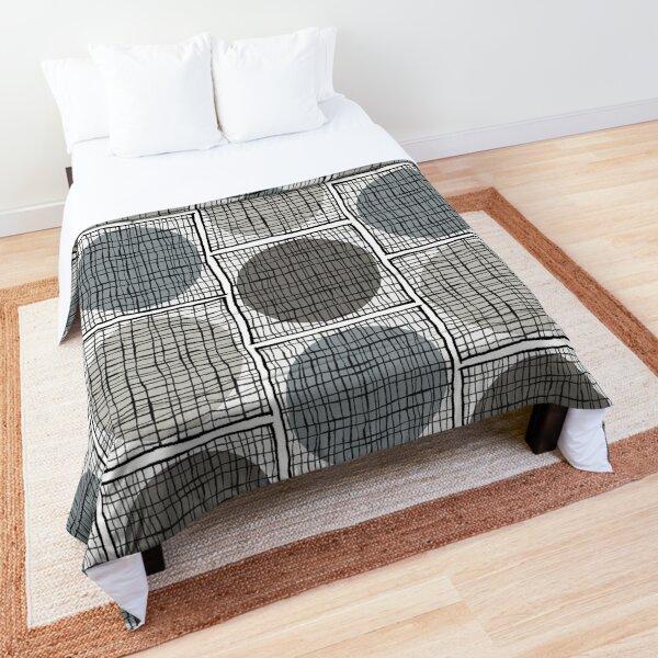 Mid-Mod Circle Grid - Neutrals Comforter