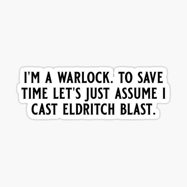 I'm a Warlock Sticker