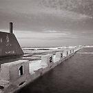 Newcastle Ocean Baths - B&W  by 4thdayimages