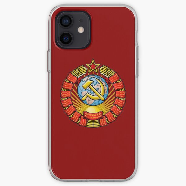 Modified Vectorized State Emblem of the Soviet Union iPhone Soft Case