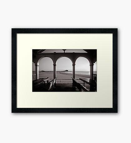 Nobbys Beach - B&W Framed Print