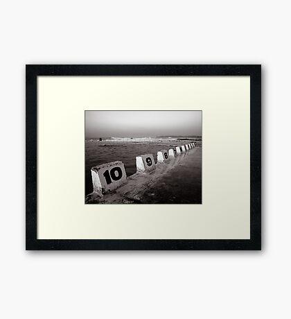 Ocean Bath - B&W Framed Print