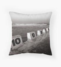 Ocean Bath - B&W Throw Pillow