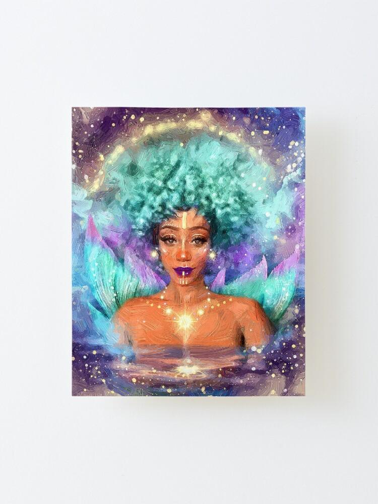 Alternate view of Mint mermaid Mounted Print