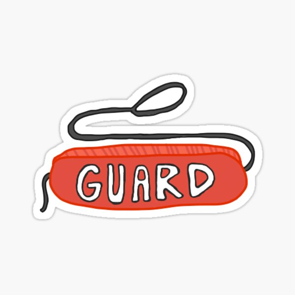 Lifeguard Tube Art Sticker