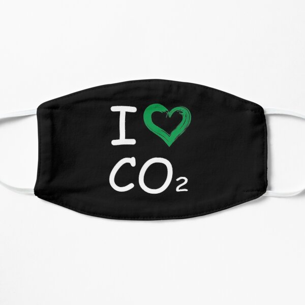 I Like CO2 - Anti Green Klimatechange Design - T-Shirt Flache Maske
