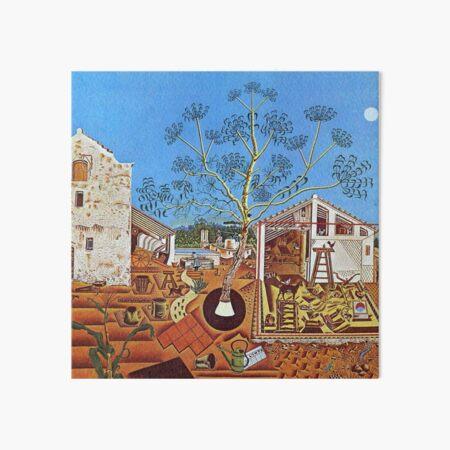 The Farm (1921) by Joan Miró Art Board Print